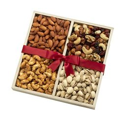 Nuts Gift Basket With Gourmet Assortment of Fresh Nuts for Any Occasion – A Healthy Gift O ...