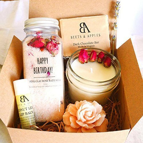 SHIP NEXT DAY Happy Birthday Gift Basket By Beets & Apples