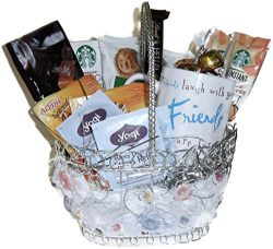 Friend Gift Basket Filled With Assortment of Food And Beverage Items