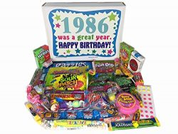 1986 31st Birthday Gift Box of Retro Nostalgic Candy Decade 80s for a 31 Year Old Man or Woman
