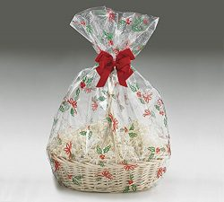 A1BS Clear Cello Cellophane Bags Gift Basket Package Flat Gift Bags 5 Pack (24 In X 30 In Christ ...