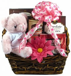For The Proud Parents of a Precious Princess – Baby Girl Gift Basket For New Parents