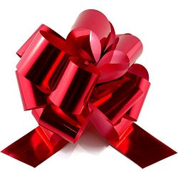Christmas Pull Bow Ribbon – Set of 10 – Perfect for Baskets, Gift Wrap, Bags and Box ...