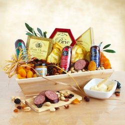 Meat and Cheese Gourmet Gift Assortment | Balsamic Vinegar, Olive Oil, Salami, Sausage, Cheese,  ...