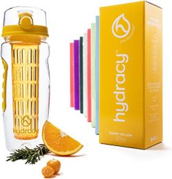 Hydracy Fruit Infuser Water Bottle – 32 Oz Sport Bottle with Full Length Infusion Rod and  ...