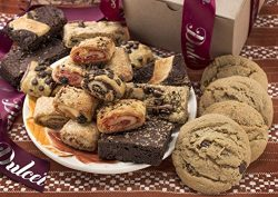 Dulcet Assorted Kraft Box, Assortment Filled with Chocolate Chip Cookies, Peanut Butter Cookies, ...