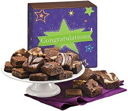 Fairytale Brownies Congratulations Magic Morsel 24 Gourmet Food Gift Basket Chocolate Box – ...