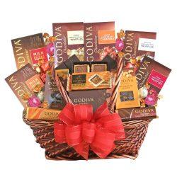 California Delicious Godiva Chocolate Deluxe Gift Basket