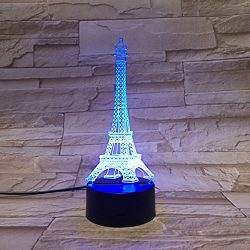 LE3D 3D Optical illusion Night Light – 7 LED Changing Light Colors – For your bedroo ...