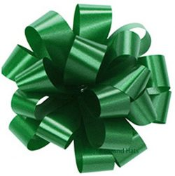 GREEN Bows 10 Pack Gift Bow for Baskets Wedding St. Patrick's Day Irish