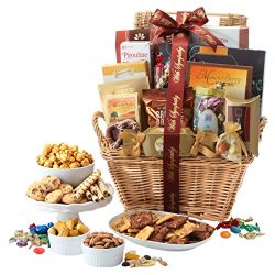 Broadway Basketeers with Sympathy Gift Basket Deluxe, 7 Pound