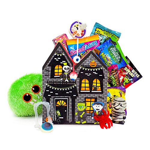 Wishing You A HAUNTingly Fun Halloween Candy and Toy Gift Basket
