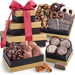Golden State Fruit Chocolate, Caramel, and Crunch Gift Tower