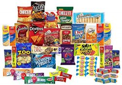Care Package with 50 Sweet & Salty Snacks, Variety Snack Box for Military Appreciation, Gift ...