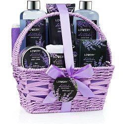 Home Spa Gift Basket, Luxurious 9 Piece Bath & Body Set For Women/Men, Lavender & Jasmin ...