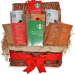 Starbucks Christmas Hot Cocoa Variety Gift Pack – Decorative Gift Basket with Christmas Ho ...