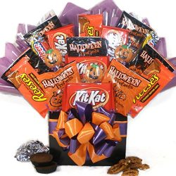 Delight Expressions Happy Haunting Halloween Gift Box – Chocolate and Candy Bouquet – ...