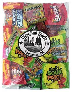 Candy Assortment (1 Pound) of Gummy Bears, LifeSavers, Skittles, Starburst, Swedish Fish, Twizzl ...