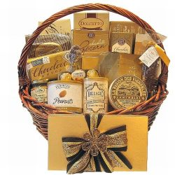 Golden Gourmet Gift Basket