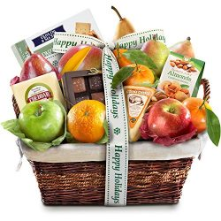 Golden State Fruit Classic Deluxe Gift Basket, Happy Holidays