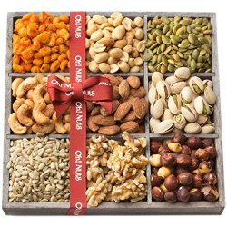 Gourmet Christmas Gift Basket Roasted Salted Nuts Tray Set – Oh! Nuts