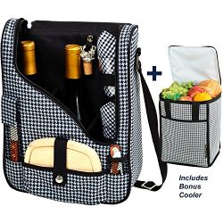 Picnic at Ascot Original Wine and Cheese Tote for 2 with Matching Cooler – Designed &  ...