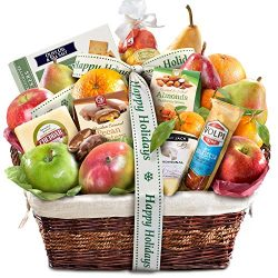Gourmet Abundance Fruit Basket Gift (Happy Holidays)