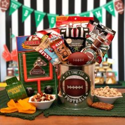 It's Football Time! – Football Themed Gift Pail – Makes a Great Fathers Day, B ...