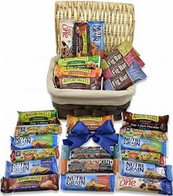 Care Package Gift Basket (25 Pieces) – Thinking of You – Healthy Snacks & Bars-  ...