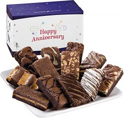 Fairytale Brownies Anniversary Sprite Dozen Gourmet Food Gift Basket Chocolate Box – 3 Inc ...