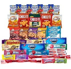 Snacks Care Package (Variety Pack of 40) Crackers, Cookies, Candy, Fruit Snacks, Healthy Protein ...