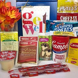 Get Well Gift Box Basket – For Cold / Flu / Illness – Over 2.5 Pounds of Care, Conce ...