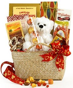 Broadway Basketeers Valentine's Day Gourmet Gift Basket – Assortment Includes Lindt Truffl ...
