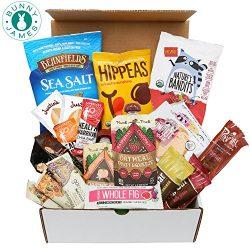 Healthy Vegan Snacks Care Package: Natural, Organic, Non-GMO, Vegan Protein Bars, Cookies, Fruit ...