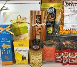 Happy 40th Birthday Gift Box Basket – Send Gourmet Coffees, Teas, Pretzels, Mustard, Fudge ...
