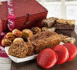 Dulcets Red Basket Cinnamon Apple Best Selling Gift Baskets