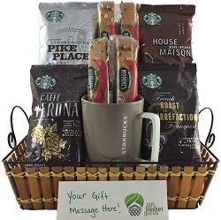 Starbucks Gourmet Coffee Gift Basket with Collectible Mug