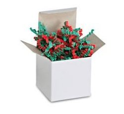 Teschco 1 LB Christmas Red & Green Crinkle Cut Paper – High Quality Shred Filler Perfe ...