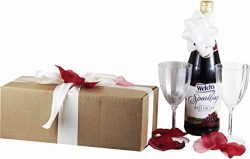Celebrate the Occasion Gift Set with Welch's Sparkling Grape Juice ~ Romantic Gift Package ...