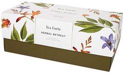 Tea Forte Herbal Retreat Presentation Box, Handcrafted Pyramid Tea Infusers, Relaxing Herbal Tea ...