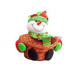 Christmas Basket Clearance! Paymenow Candy Fruit Storage Basket Santa Claus Holidays Christmas G ...