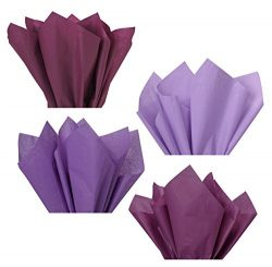 Plum Lavender Violet Purple Assorted Mixed Color Multi-Pack Tissue Paper for Flower Pom Poms Art ...