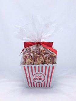Popcornopolis 12 Caramel Mini-cone Gift Basket – Birthday, Housewarming, Office Gift