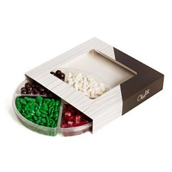 The Chocolate Bar Christmas Mixed Kosher Candy & chocolate Platter 4-Section