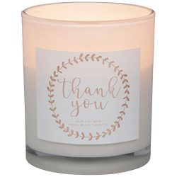 Ultimate Thank You Gift by Aroma Wishes: Deluxe Soy Wax Aromatherapy Lavender Candle w/ Rose Gol ...