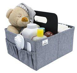 Sorbus Baby Diaper Caddy Organizer | Nursery Storage Bin for Diapers, Wipes & Toys | Portabl ...