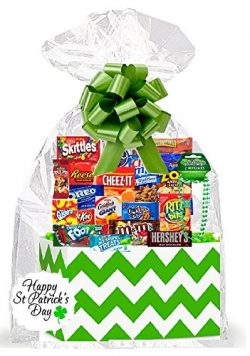 St Patricks Day Thinking Of You Cookies, Candy & More Care Package Snack Gift Box Bundle Set