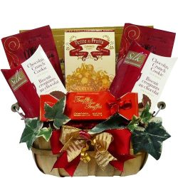 Thoughtful Wishes Cookie and Sweets Gift Basket (Candy Option)