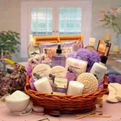 Luxurious Lady Lavender Spa Gift Basket | Great Mothers Day Gift!