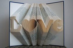 Folded Book Art -Stunning Word Pattern Folded Book Art -LOVE Pattern – Paper Anniversary G ...